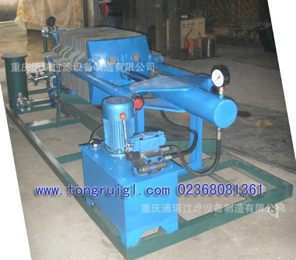 BMY液压板框压力滤油机,过滤淬火油的氧化皮与金属铁屑