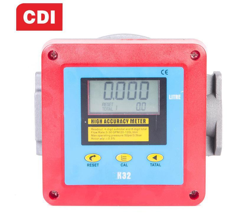 CDI 摇摆计量流量计 进口1寸 水/柴油/汽油/煤油/甲醇流量表