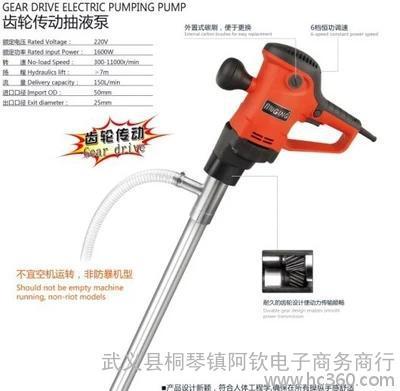 1600W大功率电动抽油泵 油桶泵 柴油泵 抽油机 大浓度油
