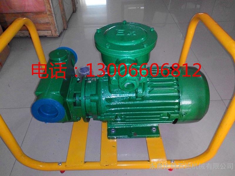 导油泵输油泵柴油泵防爆汽油泵380V抽油泵2寸200L三相叶片泵自吸泵
