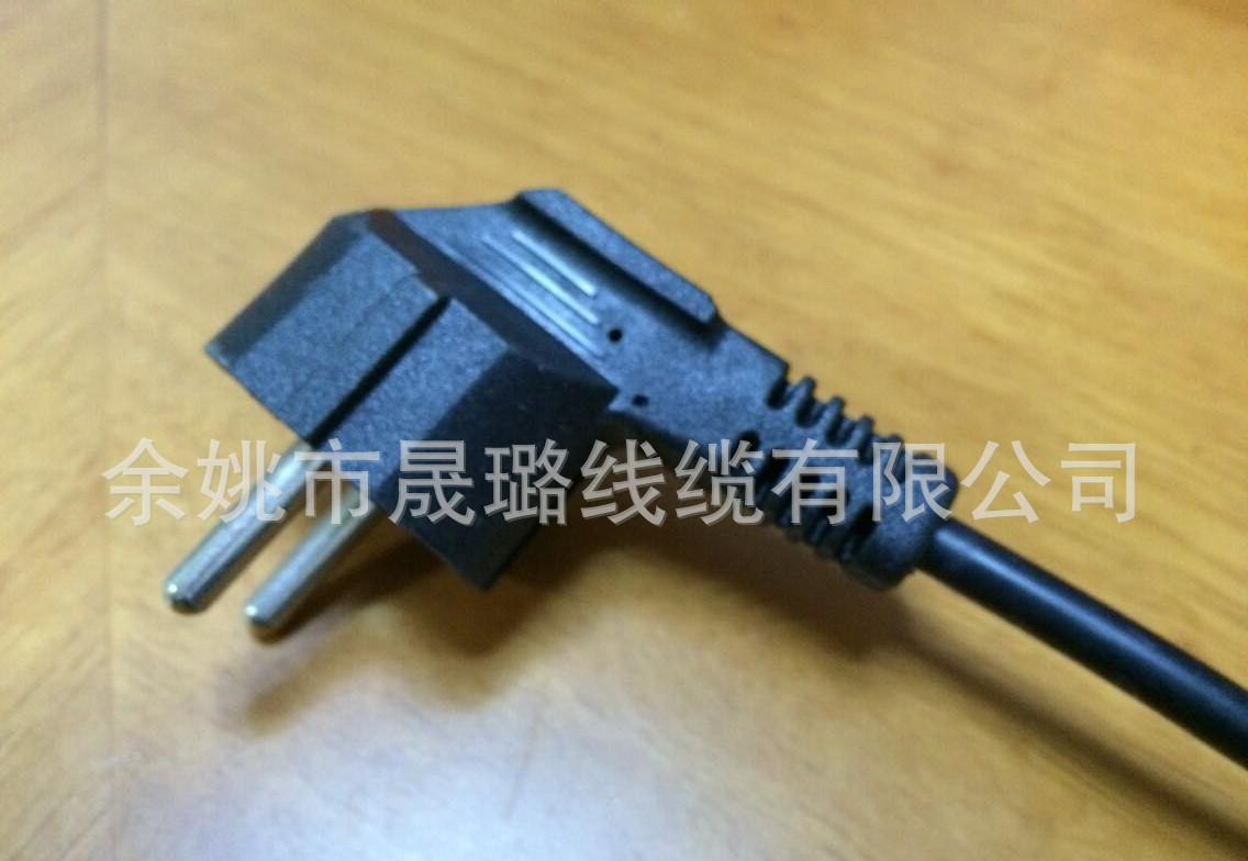 直销法国烟斗插头电源线欧式插头VDE插头欧式防水插头