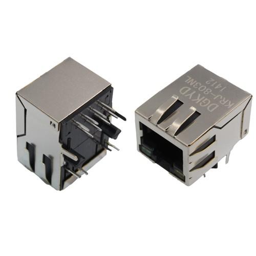 21.3mm POE RJ45带百兆网络变压器 RJ45 带灯插座 DGKYD供应KRJ-803NL