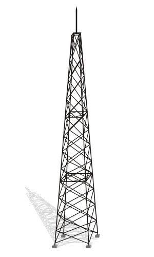 30米大型变电站ghw线型避雷塔、物流园用避雷塔、光伏站用避雷塔