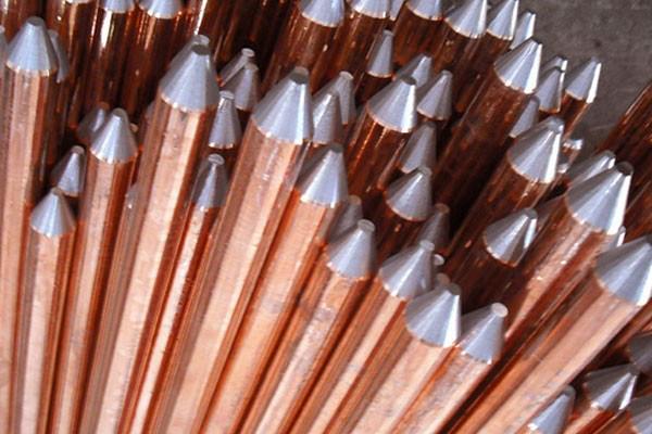 镀铜接地棒防雷铜包钢接地棒接地工程变电站接地接地棒厂家