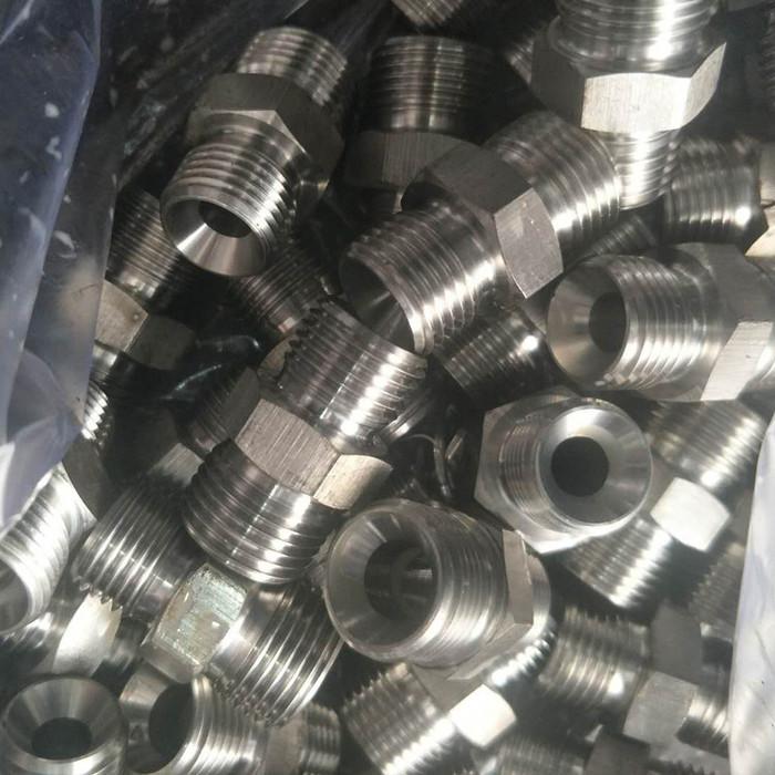 液压油管接头 304不锈钢接头 不锈钢对丝直通 过渡接头