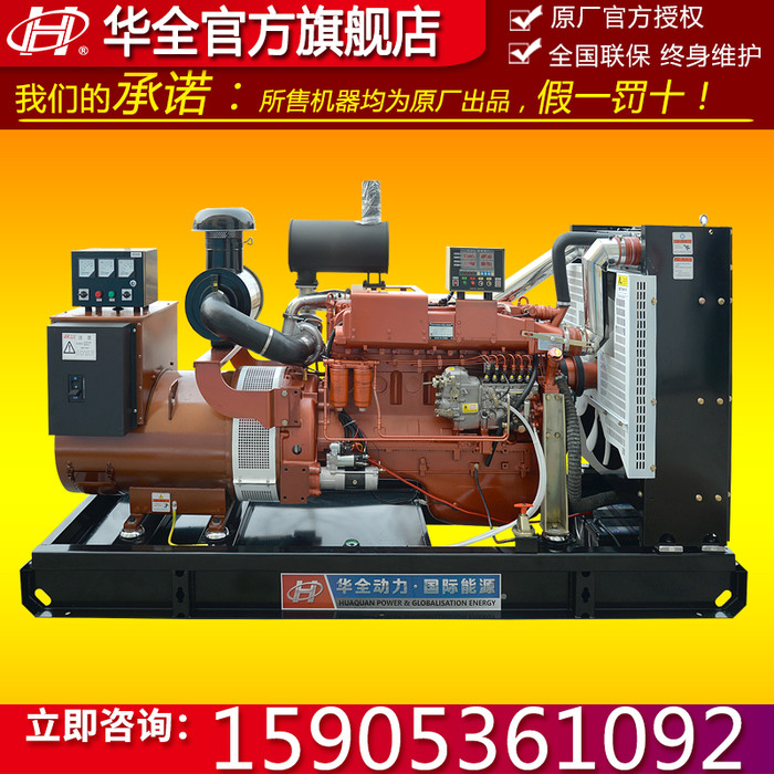 200KW柴油发电机 潍坊200千瓦6126zld系列全铜柴油发电机组 配四保护系统 250KVA电启动发电机组