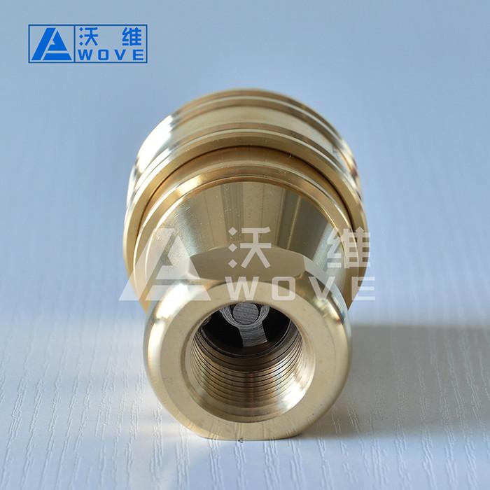 天津KZD液压油管快插接头 黄铜快速接头 高压水管快换接头 自锁快速接头